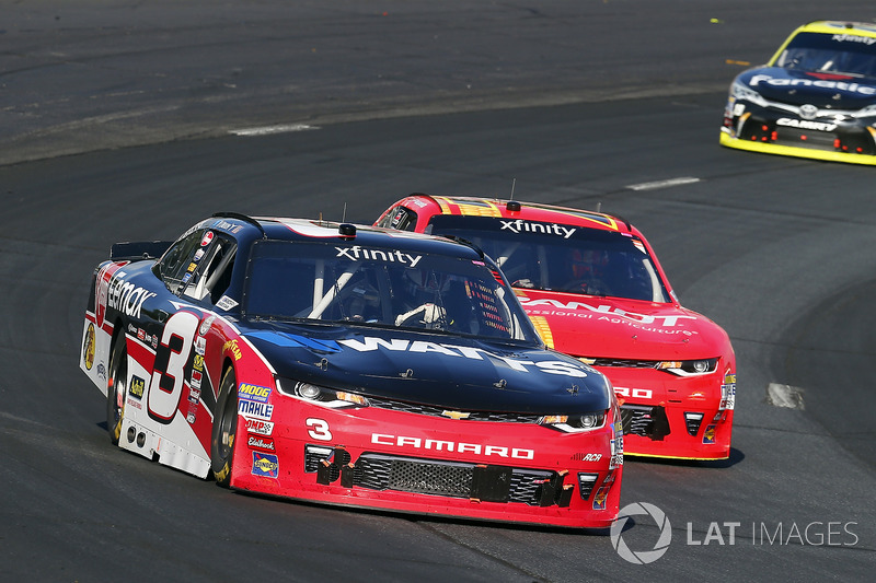 Ty Dillon, Richard Childress Racing Chevrolet, Justin Allgaier, JR Motorsports Chevrolet