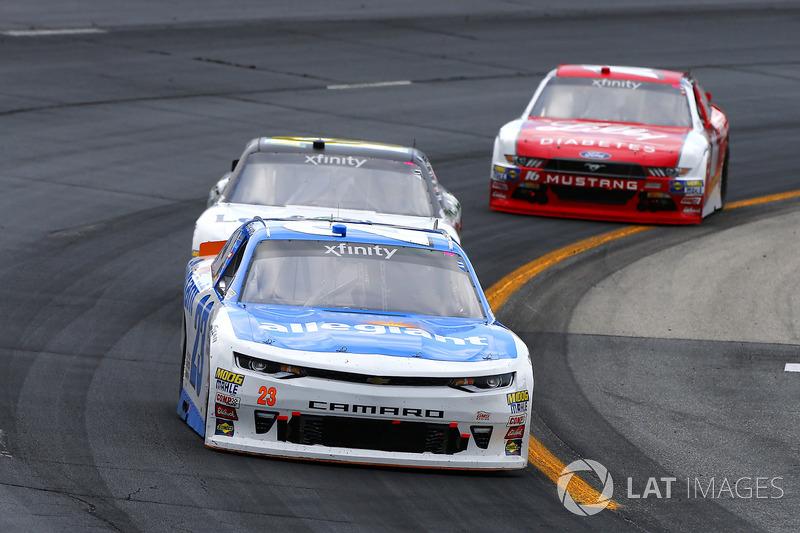 Spencer Gallagher, GMS Racing Chevrolet, Blake Koch, Kaulig Racing Chevrolet