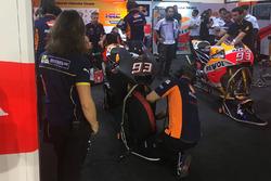 La Honda de Marc Marquez équipée de son nouveau carénage