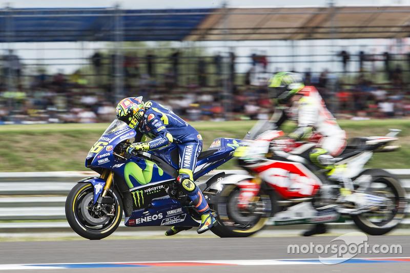 Übungsstart: Valentino Rossi, Yamaha Factory Racing