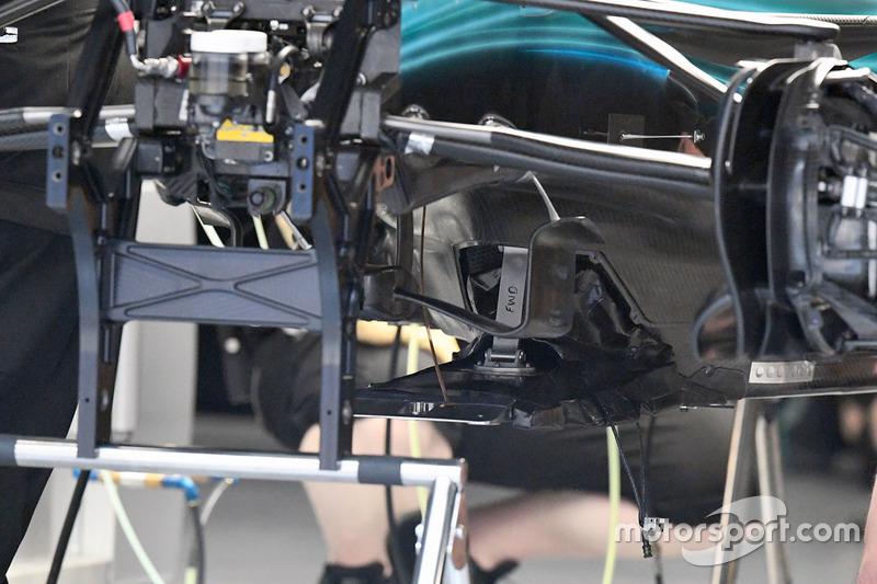 梅赛德斯W08赛车前部细节图