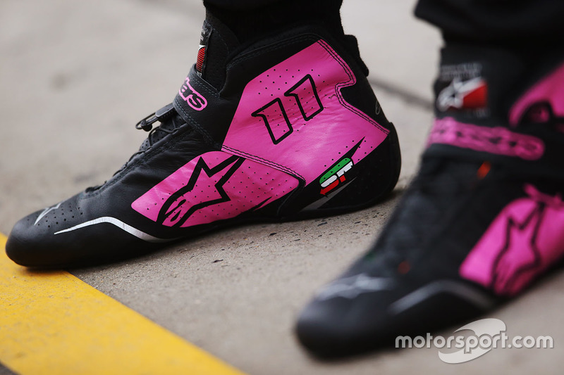 El calzado de Sergio Perez, Force India