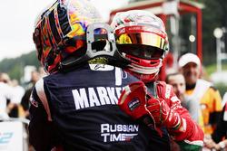 Ganador de la carrera Charles Leclerc, PREMA Powerteam, segundo lugar Artem Markelov, RUSSIAN TIME