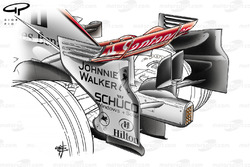 McLaren MP4-23 2008 rear wing