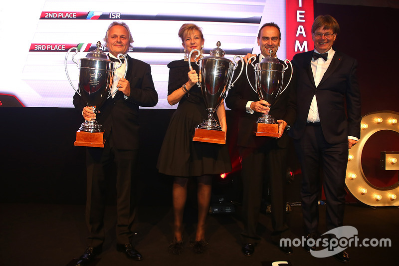 2016 Copa Endurance Pro-AM Copa equipos, Kessel Racing, primer lugar, ISR, segundo lugar, AF Corse, tercer lugar