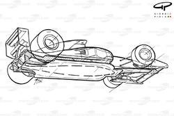 Ferrari F92A (644) 1992 underside schematic view