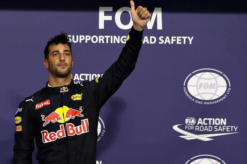Tercera posición Daniel Ricciardo, Red Bull Racing