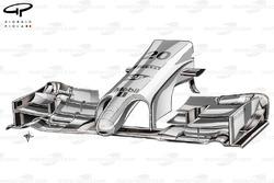 McLaren MP4-29 front wing & nose detail