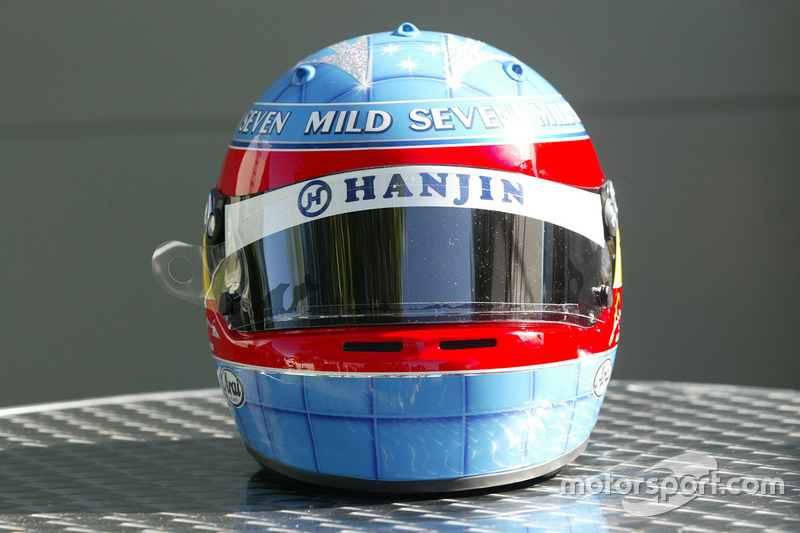 Casco de Fernando Alonso en 2004