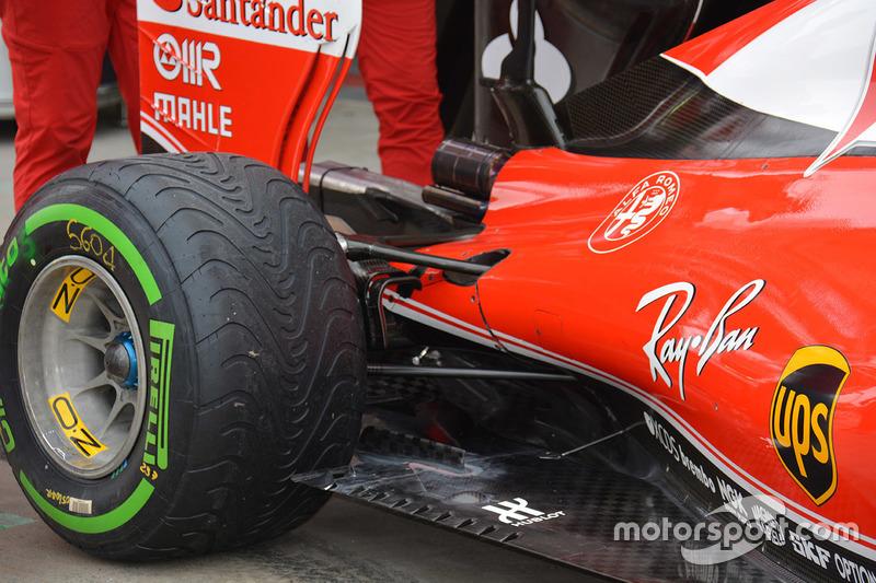 Ferrari SF16-H: Heck, Detail