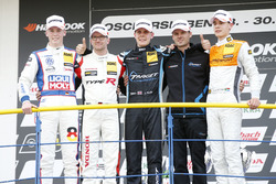 Podium: 1. Josh Files, Target Competition, Honda Civic Type R-TCR, 2. Steve Kirsch, Honda Team ADAC Sachsen, Honda Civic Type R-TCR, 3. Sheldon van der Linde, Prosport Performance, Audi RS3 LMS, Luca Engstler, Liqui Moly Team Engstler, VW Golf GTI TCR