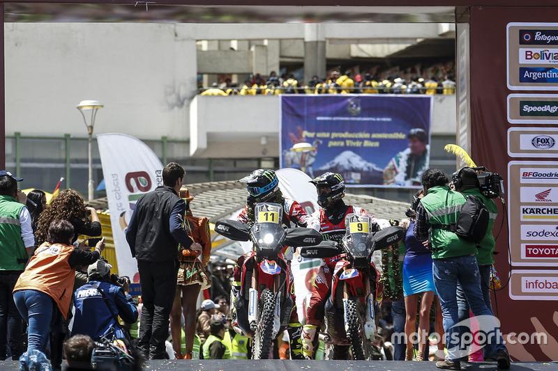 #11 Monster Energy Honda Team: Joan Barreda, #9 Monster Energy Honda Team: Ricky Brabec