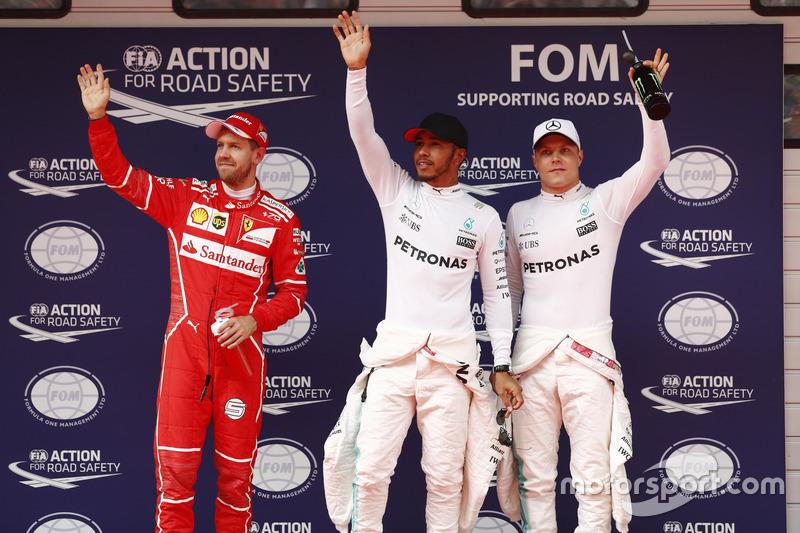 Льюіс Хемілтон, Mercedes AMG, Себастьян Феттель, Ferrari, Валттері Боттас, Mercedes AMG