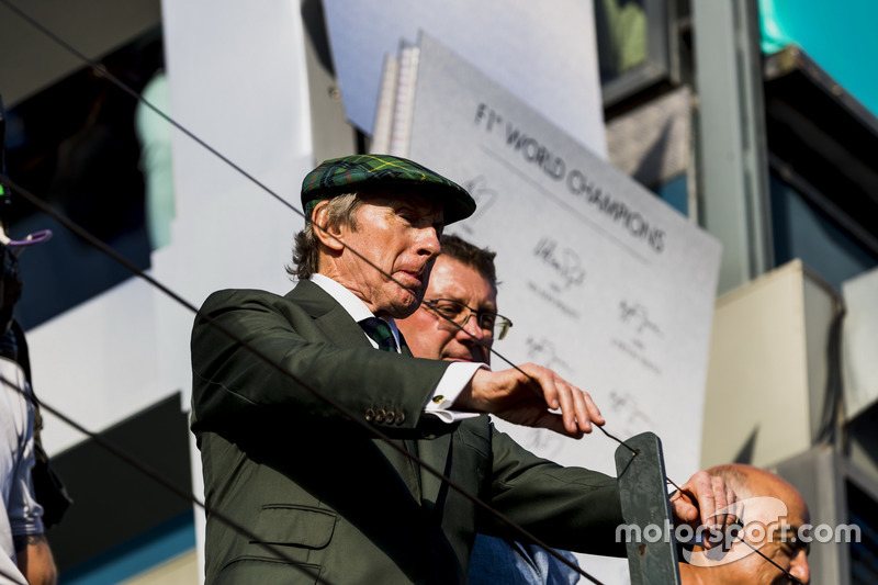 Podium: Sir Jackie Stewart