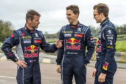 Sébastien Loeb, Team Peugeot Hansen; Timmy Hansen, Team Peugeot Hansen; Kevin Hansen, Team Peugeot Hansen