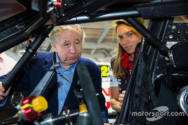 Simona de Silvestro, Nissan Motorsports; Jean Todt, FIA-Präsident