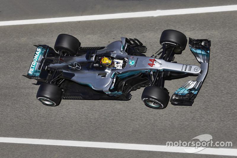 Aileron de requin de la Mercedes AMG F1 W08