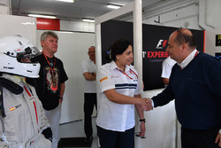 Monisha Kaltenborn, Sauber Team Prinicpal and Luca Colajanni, Formula One Senior Communications Officer