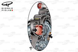 تفاصيل ضاغط الهواء الخاص بسيارة مرسيدس دبليو08