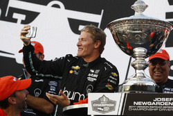 2017 champion Josef Newgarden, Team Penske Chevrolet celebrates