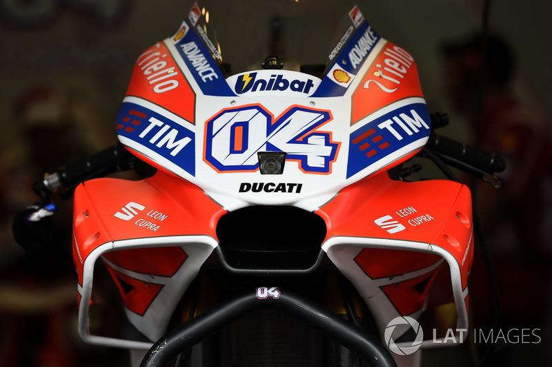 Le carénage de la Ducati