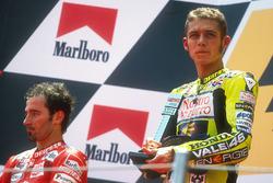 Podium: winner Valentino Rossi, second place Max Biaggi