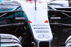 Передня частина Mercedes AMG F1 W08