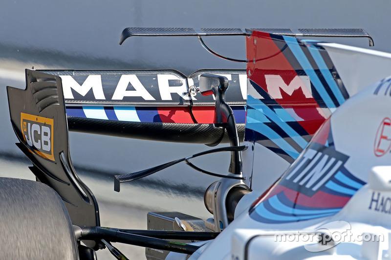 Williams FW40: Heckflügel, T-Flügel