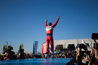 Jérôme d'Ambrosio, Mahindra Racing, celebra su victoria en Marrakech