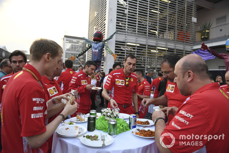 Ferrari at Paddock Welcome Party