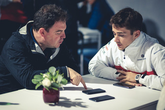 Charles Leclerc, Alfa Romeo Sauber F1 Team talks with James Allen