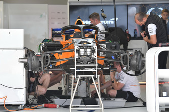 McLaren MCL33 in the garage
