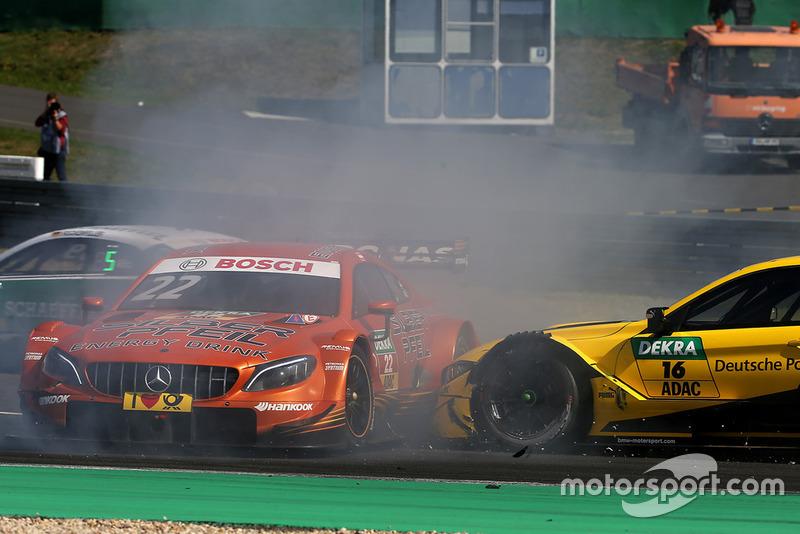 Мабуть в цій аварії Лукас Ауер втратив всі надії залишитись в програмі Mercedes