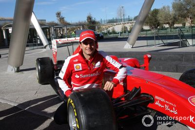 Pedro de la Rosa's first day with Scuderia Ferrari
