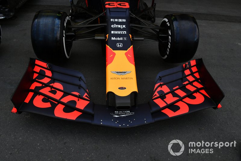 Front wing on Red Bull Racing RB15