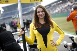 Grid girl of Sérgio Sette Câmara, Motopark Dallara F312 - Volkswagen