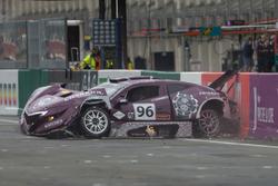 #96 Solution F: Philipee Charriol, Roberto Rayneri, Roberto Silva in a crash
