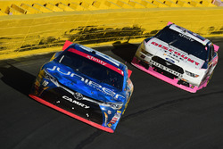 Daniel Suarez, Joe Gibbs Racing Toyota, Brad Keselowski, Team Penske Ford
