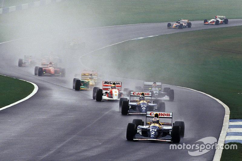 Alain Prost lider, Ayrton Senna ilk turda sıra kazanmaya çalışıyor
