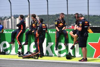 Meccanici Red Bull Racing, in griglia di partenza