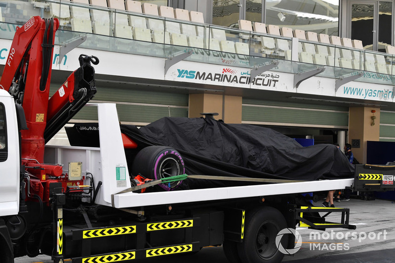 El coche de Pietro Fittipaldi, Haas F1 Team VF-18