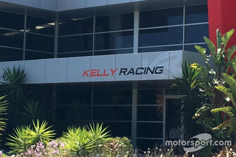 Nissan Motorsport factory in Melbourne with Kelly Racing branding