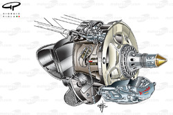 Red Bull RB8 front brake assembly