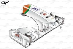Force India VJM04 nose, low downforce design