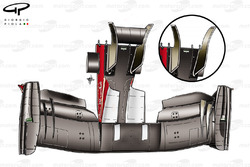 Ferrari F150 front wing and nose bottom view