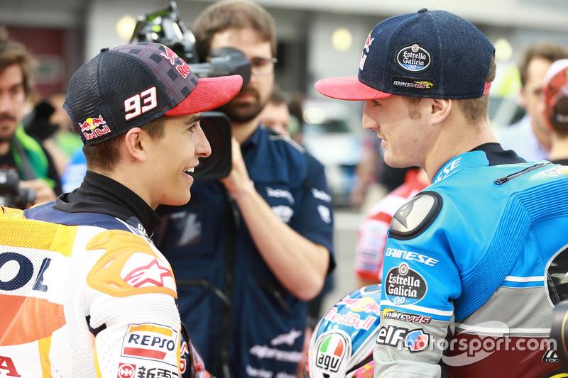 Marc Marquez, Repsol Honda Team; Jack Miller, Estrella Galicia 0,0 Marc VDS