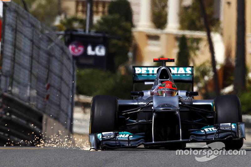 F1, Monte Carlo 2012: Michael Schumacher, Mercedes F1 W03