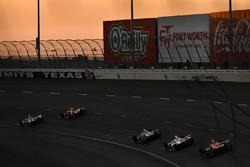 Mikhail Aleshin, Schmidt Peterson Motorsports Honda, Helio Castroneves, Team Penske Chevrolet, Tristan Vautier, Dale Coyne Racing Honda