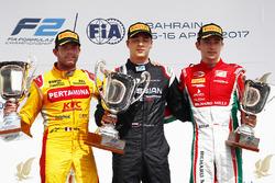 Podium : le vainqueur Artem Markelov, RUSSIAN TIME, le deuxième Norman Nato, Pertamina Arden, le troisième Charles Leclerc, PREMA Racing