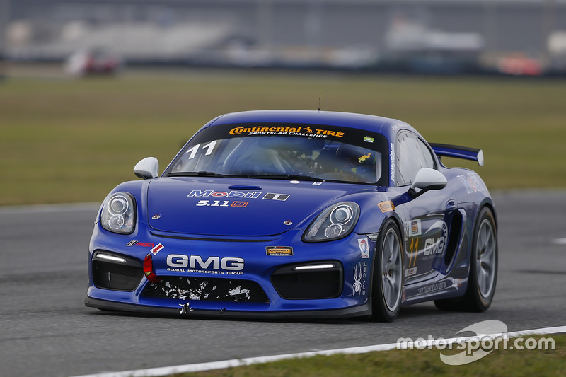 #11 GMG Racing Porsche Cayman GT4 MR: Elias Sabo, James Sofronas, Matthew Halliday
